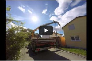 Video Spezialkran Betonfertigdecken