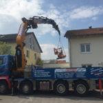 Spezialkran Wohngebiet Bau