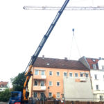 Spezialkran Augsburg Betonplatte