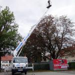 Arbeitsbühne 26 Meter ausgefahren