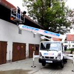 Hebebühne 26 Meter Dacharbeiten