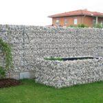 Hochwertige Gabionen Gartenmauer.